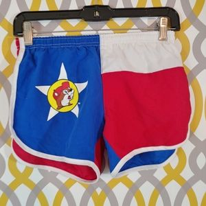 BUCEES Texas Flag Running Shorts Built In Liner XS